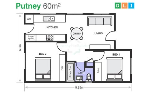 Two Bedroom Granny Flat Floor Plans kit homes