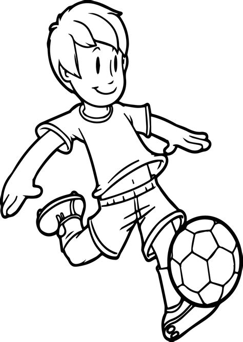 cartoon boy coloring page how to draw a cartoon boy playing football cartoon