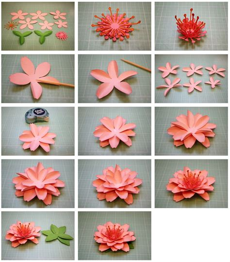 tutorial scrapbook mahar bits of paper daffodil and cherry blossom 3d paper