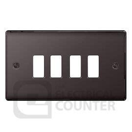 Grid Switch 8 bg grid switch gnbn4 black nickel nexus grid 4 front plate