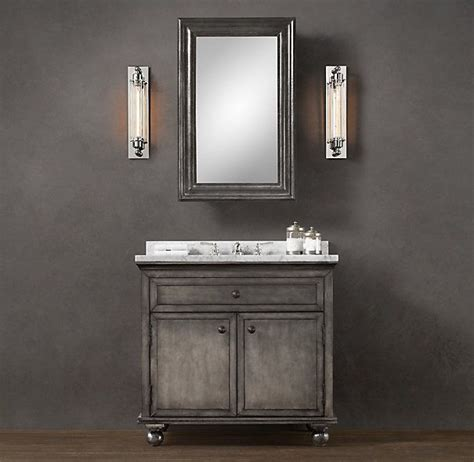 bathroom vanity restoration hardware restoration hardware zinc single vanity sink design