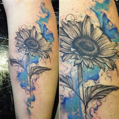 sunflowers abstract watercolor tattoo pictures to pin on