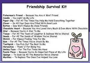 friendship survival kit in a can novelty gift for a