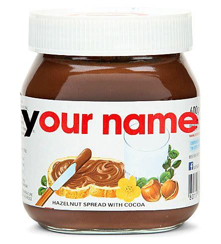printable nutella label nutella refuses to print girl s name on customised jar