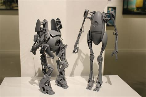 Threea 3a Severed Robot 12 threea toys unveils prototype portal 2 and metal gear solid 2 statuettes