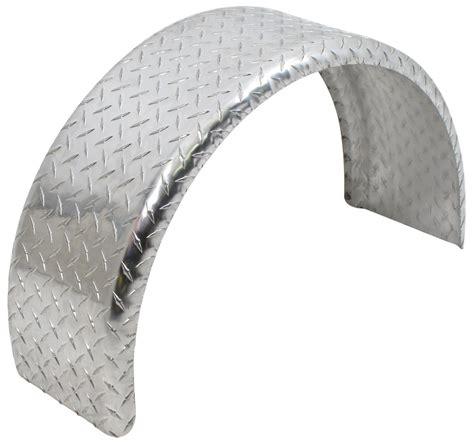 aluminum boat trailer round fender mount and step pad ce smith single axle trailer fender aluminum tread plate