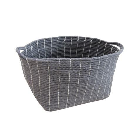 soft gray buy grey soft rope storage bag basket