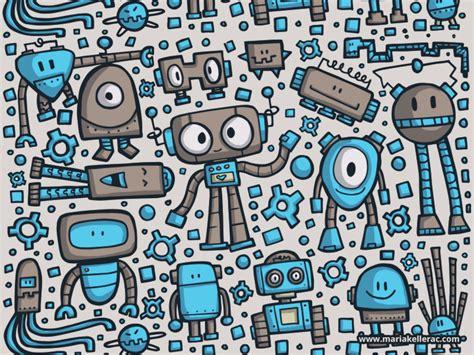 doodle pictures free robot doodles by kellerac on deviantart