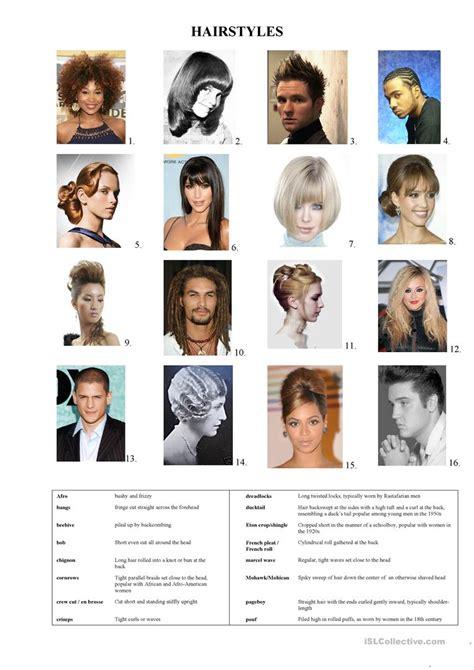 hair style esl esl hairstyles 12 free esl hair style worksheets