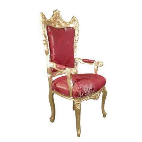 poltrona trono poltrona barocca rosso e oro trono barocco mobili