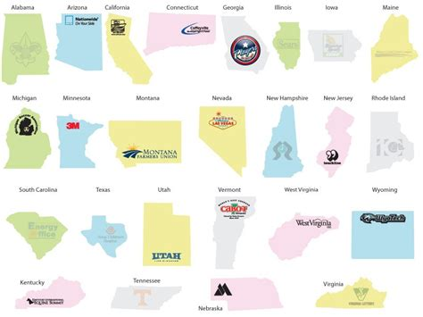 printable state shapes 7 best images of printable of usa states shapes map with