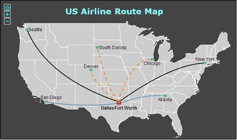 united states flight map flight map in united states interactive html5 maps