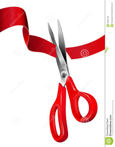 cortar imagenes cutting the red ribbon opening ceremony royalty free