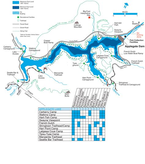 map of oregon dams portland district gt locations gt rogue river gt applegate