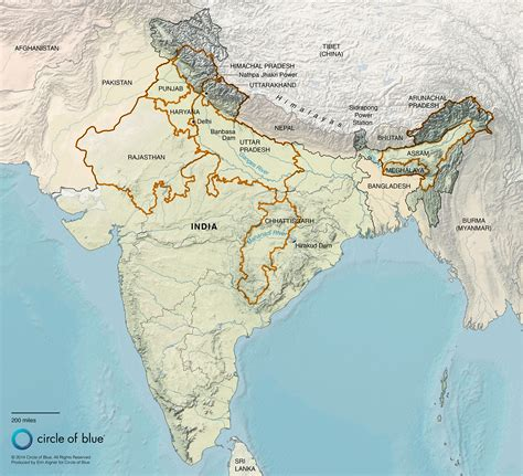 himalayan mountains map within himalayas on world