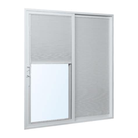 Patio Doors With Built In Blinds Reviews Shop Reliabilt 300 Series 70 75 In Blinds Between The