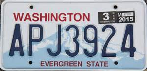 washington license plates for sale and trade and display