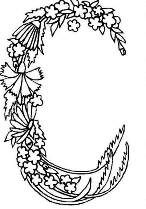 alphabet coloring pages with flowers com alphabet flowers coloring pages