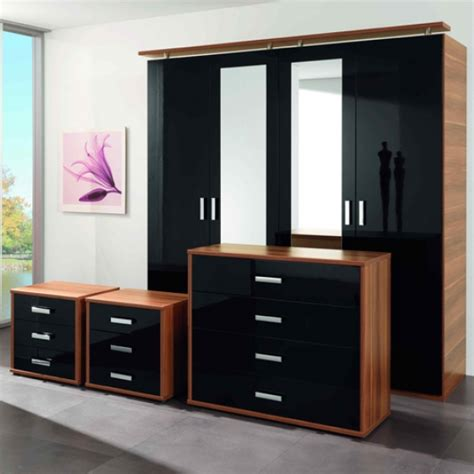 bedroom furniture gloss black gloss bedroom furniture 2