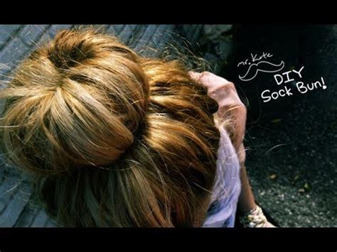 diy sock bun tutorial mr kate diy sock bun hair tutorial free and