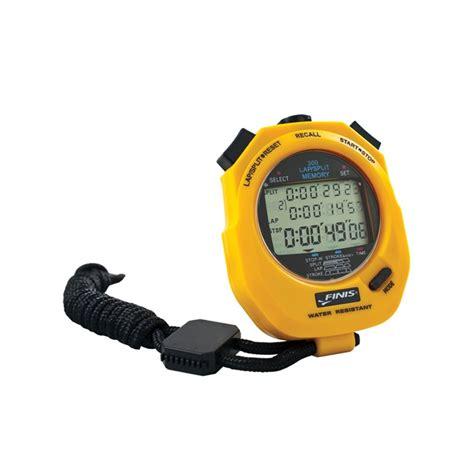Finis 100 Memory Stopwatch chronometres jaune eurocomswim