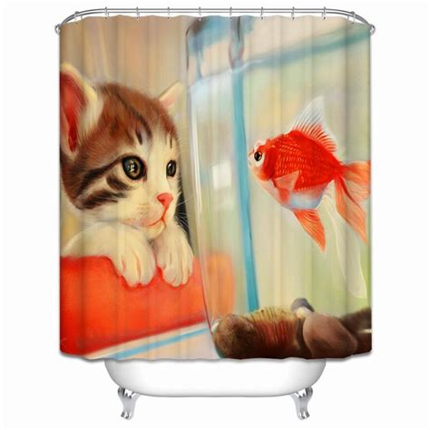 dog shower curtain hooks new funny dog shower curtain 3d christmas home waterproof