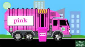 what color is a truck garbage trucks teaching colors learning basic colours