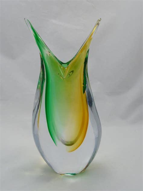 murano vase murano glass vase green murano glass murano