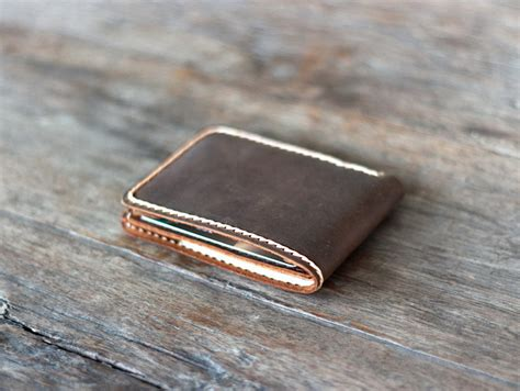 Handcrafted Leather Wallet - handmade exquisite leather bifold wallet gifts for