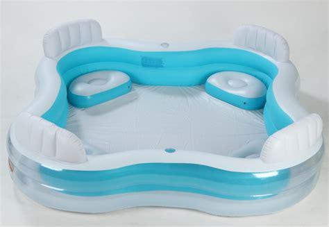 intex pool swim centre with 4 seats drink holders brand