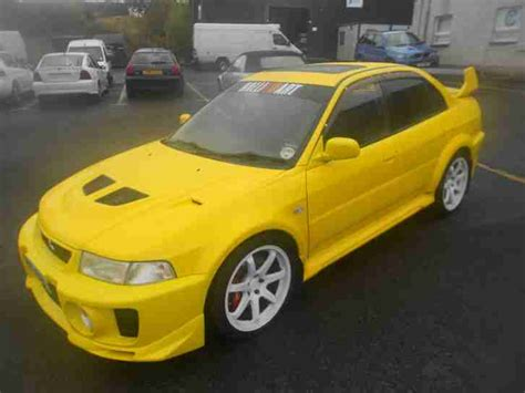 mitsubishi yellow mitsubishi 1998 lancer evo v yellow car for sale