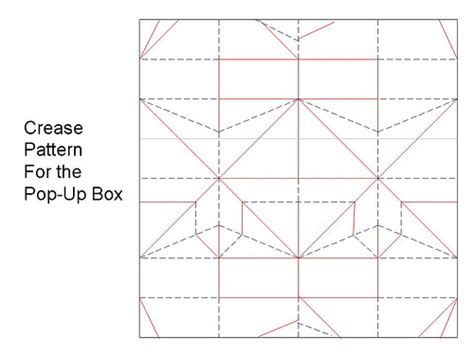 box pattern in c crease pattern for pop up box for diagrams text video