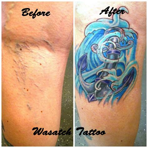 tattoo over varicose veins varicose vein cover up by megeath at wasatch