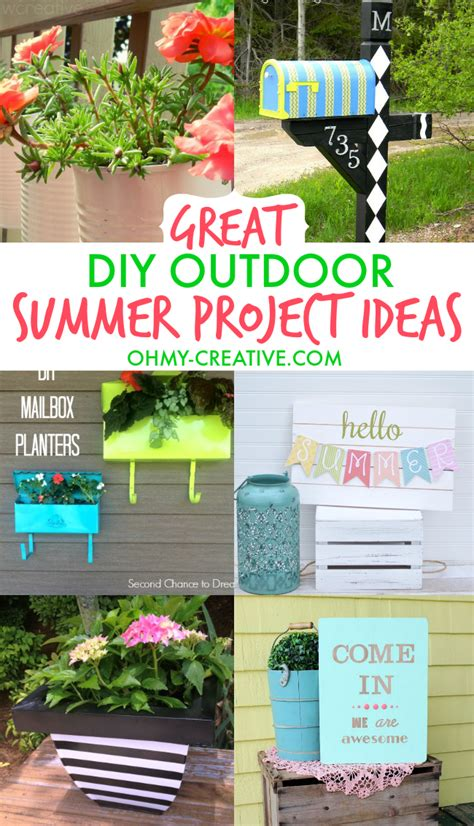 diy summer decorations for home great diy outdoor summer project ideas oh my creative