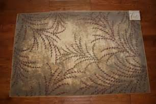 Rubber Backed Washable Rugs by Kitchen Rubber Backed Runner Rugs 3x4 Kitchen Rug Washable Mat Rugs Leaves Branches Beige