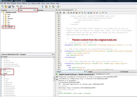 build xml getting up and running with gwt and netbeans