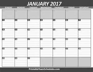 january calendar template printable january calendar template 2017