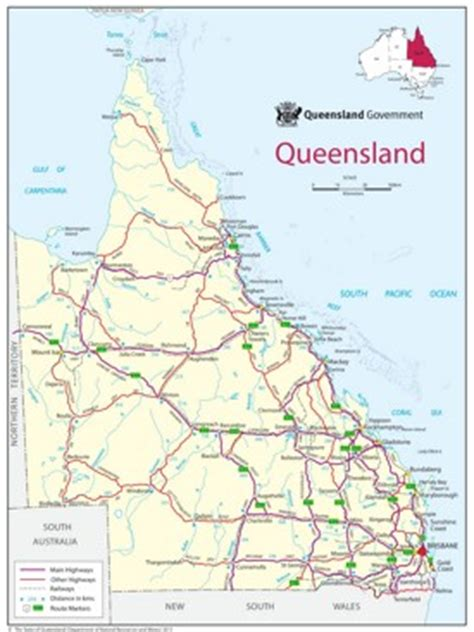 printable map hervey bay queensland state maps australia maps of queensland qld