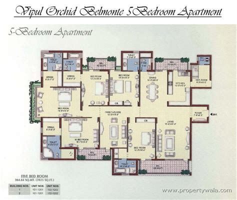 4 bedroom apartment flat for rent in vipul orchid