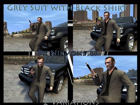 Liberty City Gta Jacket Black grey suit with black shirt gta 4