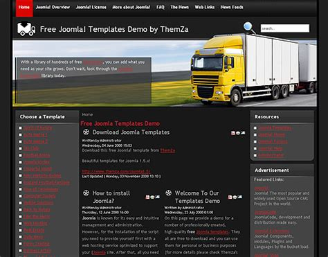Global Logistics Free Joomla 1 5 Template By Themza Logistics Website Template