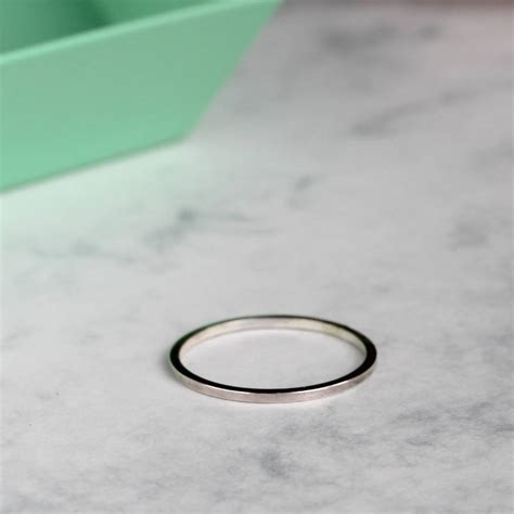 square sterling silver ring by mela jewellery