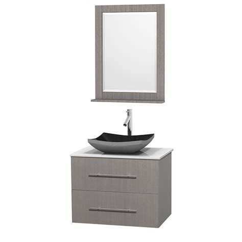 centra 24 in single vanity in white with solid surfacetop wyndham collection wcvw00930sgowsgs1m24 centra 30 inch