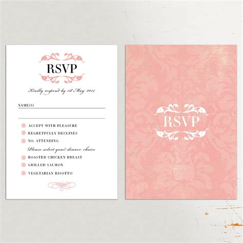 wedding invitations cards wedding invitations with rsvp cards various invitation