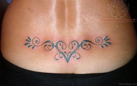 heart tribal lower back tattoos 70 cool on back