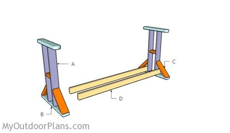 how to build an a frame swing stand glider swing plans myoutdoorplans free woodworking