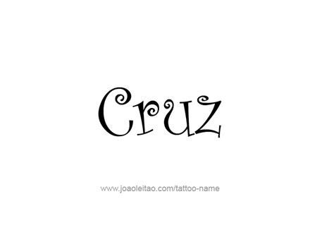 tattoo design cruz cruz name tattoo designs