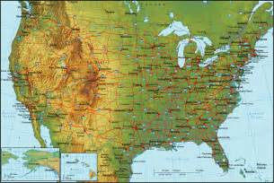 Topographical map of the usa the usa detailed topographical map