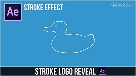 logo reveal tutorial after effects tutorial stroke logo reveal outline effect