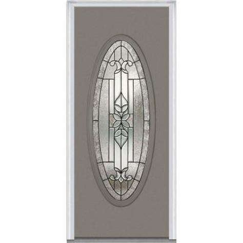 Oval Glass Doors Oval Lite Doors With Glass Steel Doors Front Doors Exterior Doors The Home Depot